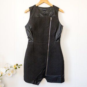 Stylestalker Faux Leather Dress w/ Quilted Detail